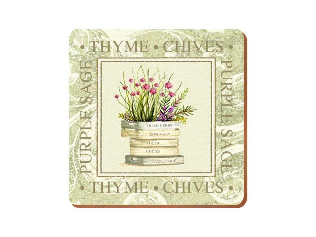Creative Tops - Korkové prostírání pod skleničky Topiary /10*10 cm/ - 6 ks v balení