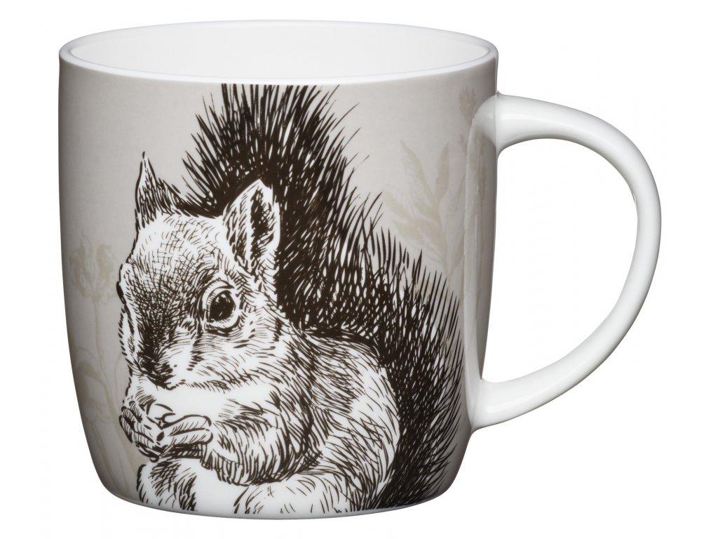Kitchen Craft - Porcelánový hrníček Squirrel - Objem je 425 ml.