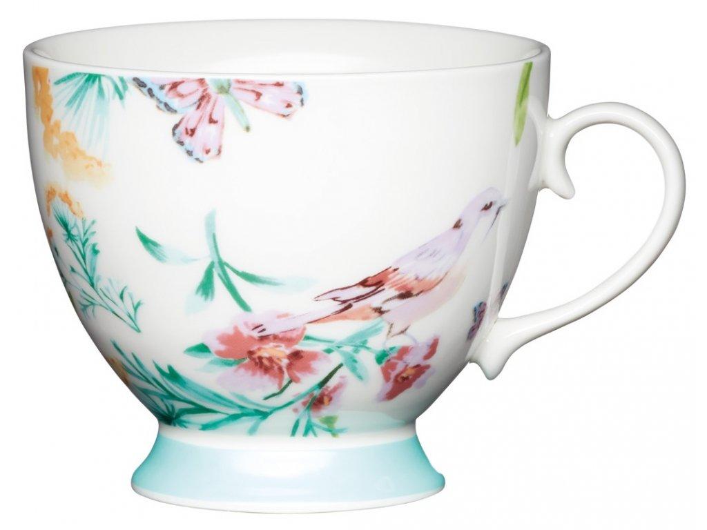 Kitchen Craft - Porcelánový hrníček White Birds - 400 ml