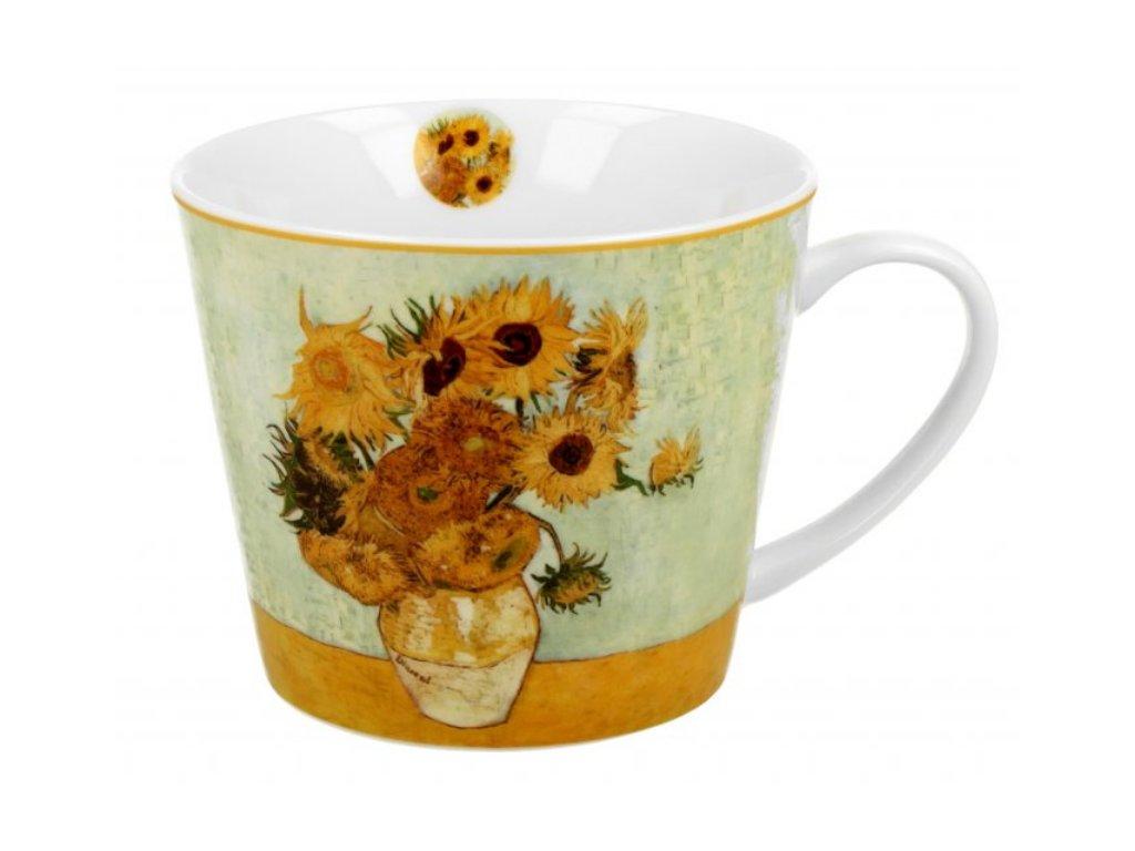 Velký porcelánový hrnek V. van Gogh Slunečnice v dárkové krabičce 610 ml