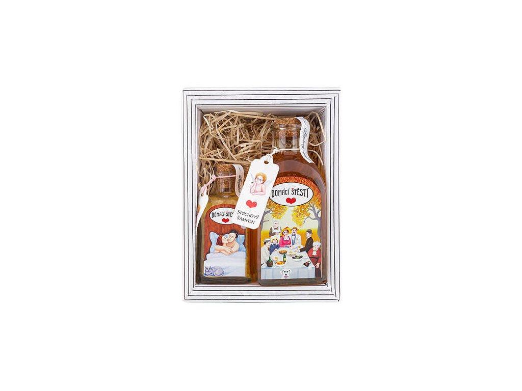 Bohemia Gifts Kosmetická sada Domácí štěstí – sprchový šampon 250ml a sůl 110 g