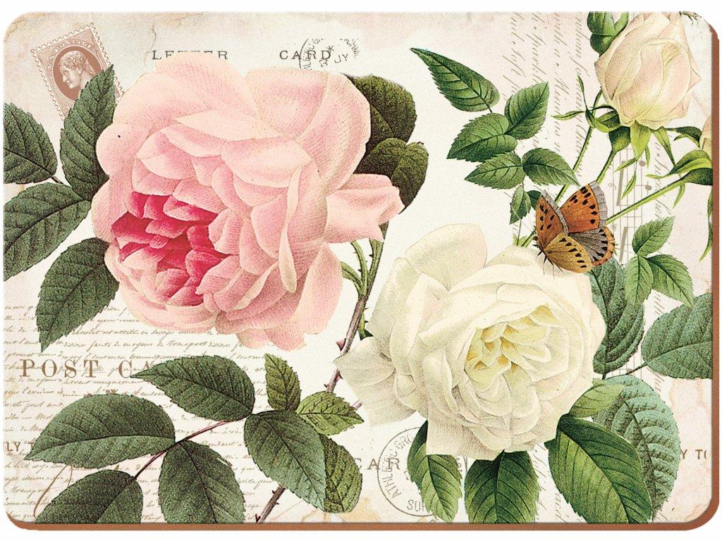 Creative Tops - Korkové prostírání Rose Garden velké /40*29 cm/ - 4 ks