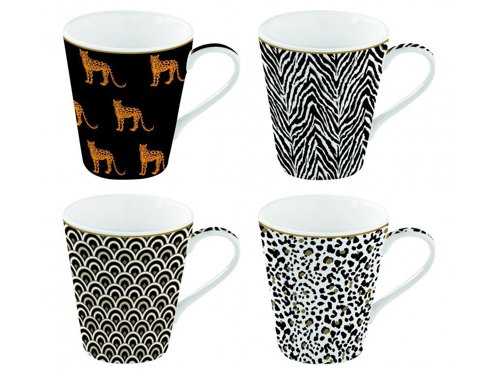 Easy Life - Porcelánové hrnky na kávu Savana - 4*300 ml