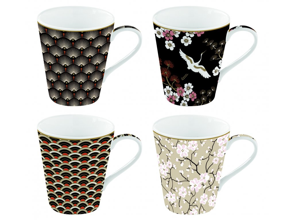 Easy Life - Porcelánové hrnky na kávu Oriental - 4*300 ml