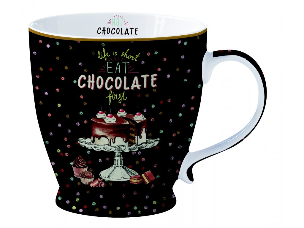 Easy Life - Porcelánový hrnek Hot Chocolate - 400 ml