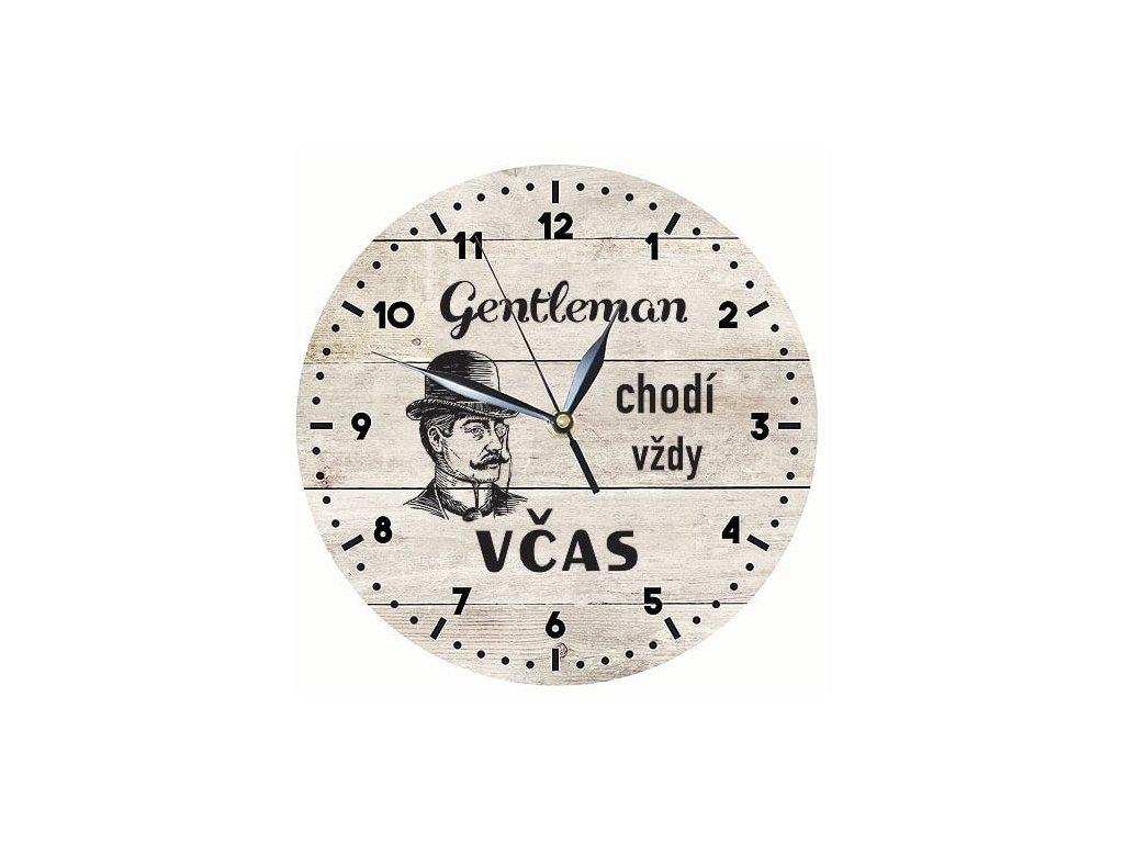 Bohemia Gifts Dřevěné hodiny 24 cm - Gentleman