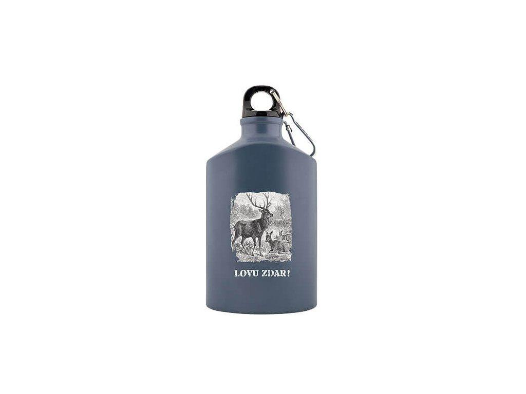 Bohemia Gifts Kovová lahev 0,5 l pro myslivce - Lovu zdar