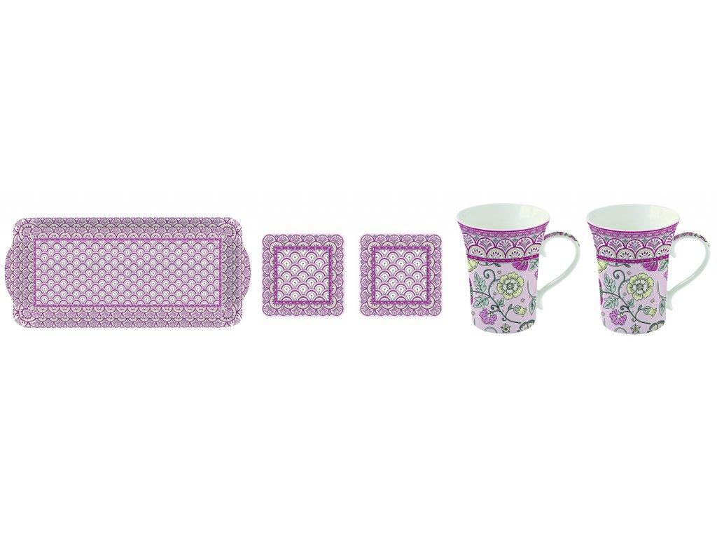 Easy Life - Krásná dárková sada na čaj Monsoon Pink - 2*360 ml