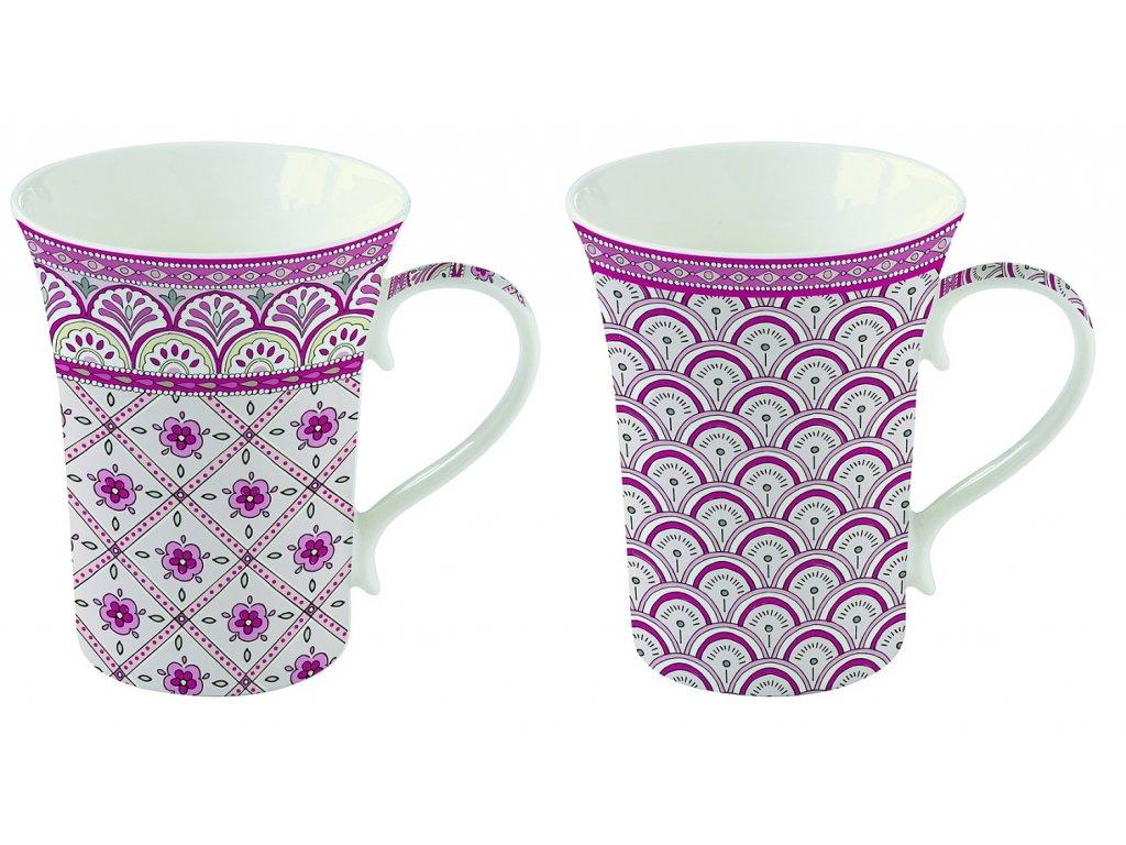 Easy Life - Krásná dárková sada hrnků na čaj Monsoon Pink - 2 hrnky o objemu 360 ml