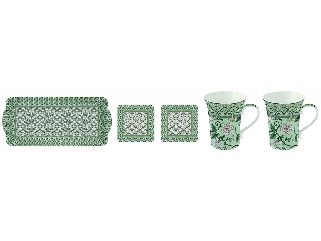 Easy Life - Krásná dárková sada na čaj Monsoon Green - 2*360 ml