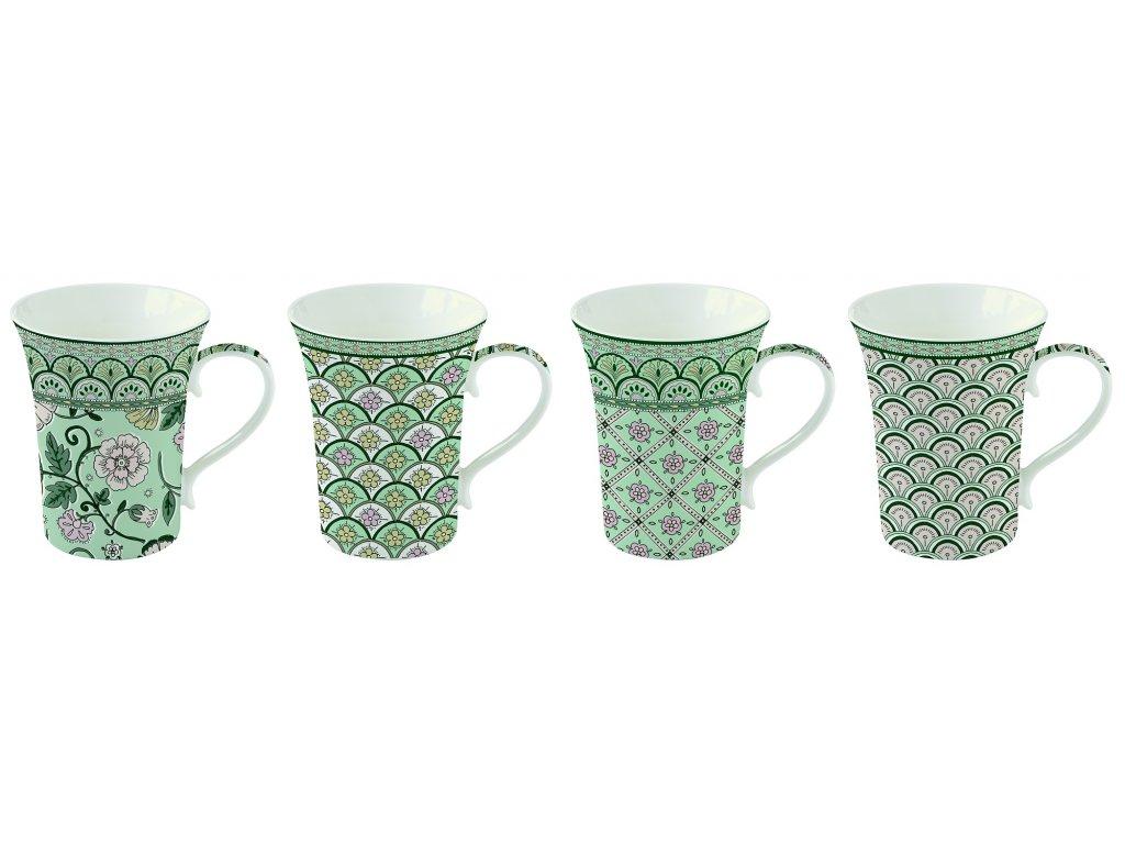 Easy Life - Krásná dárková sada hrnků na čaj Monsoon Green - 4*360 ml