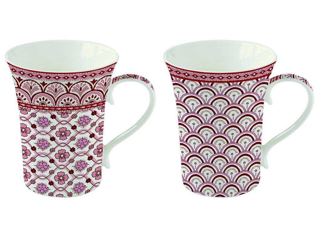 Easy Life - Krásná dárková sada hrnků na čaj Monsoon Red - 2*360 ml