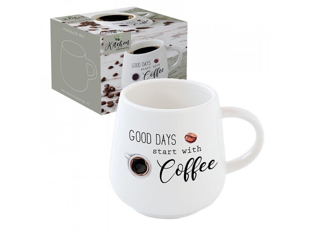 Easy Life - Porcelánový hrnek na kávu Kitchen Elements - 400 ml