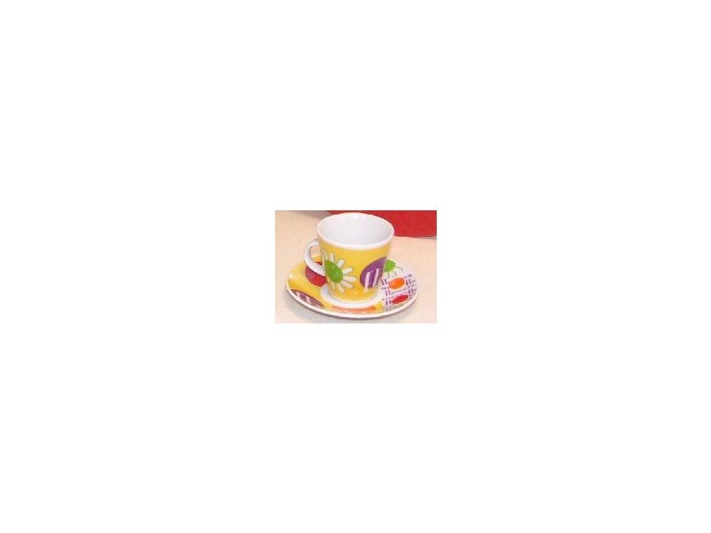 """IN - Porcelánový šálek s podšálkem na espresso """"SUNFLOWER""""  - 90 ml"""