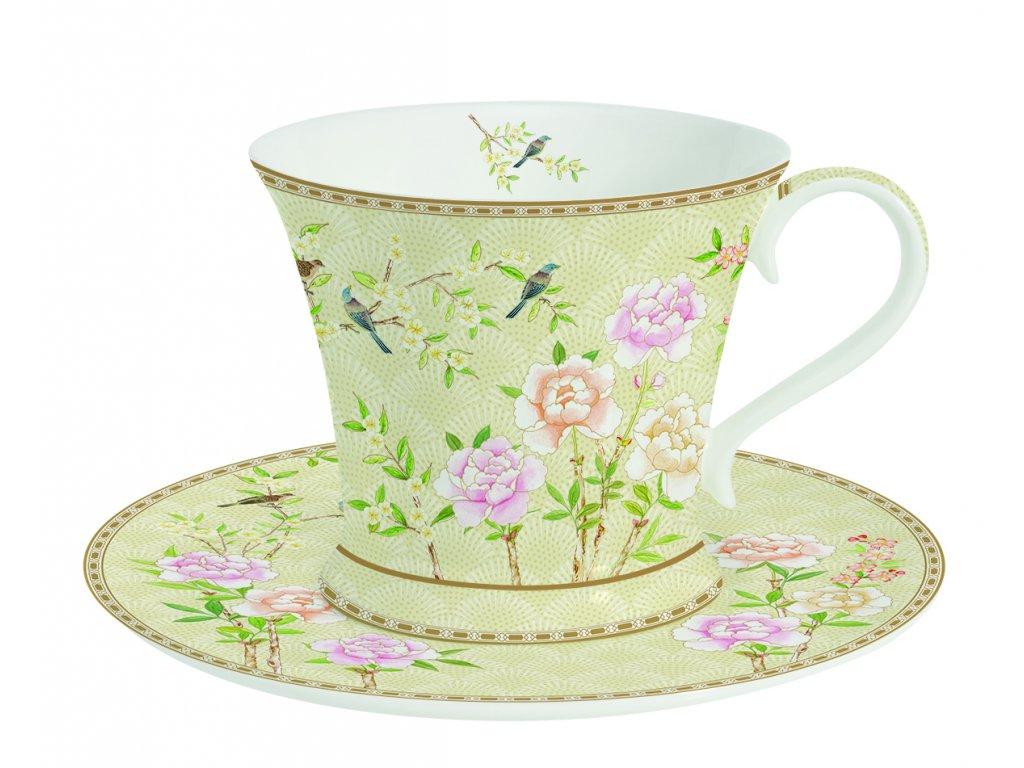 Easy Life - Porcelánový šálek a podšálek na kávu Palace Garden Fresco - 180 ml