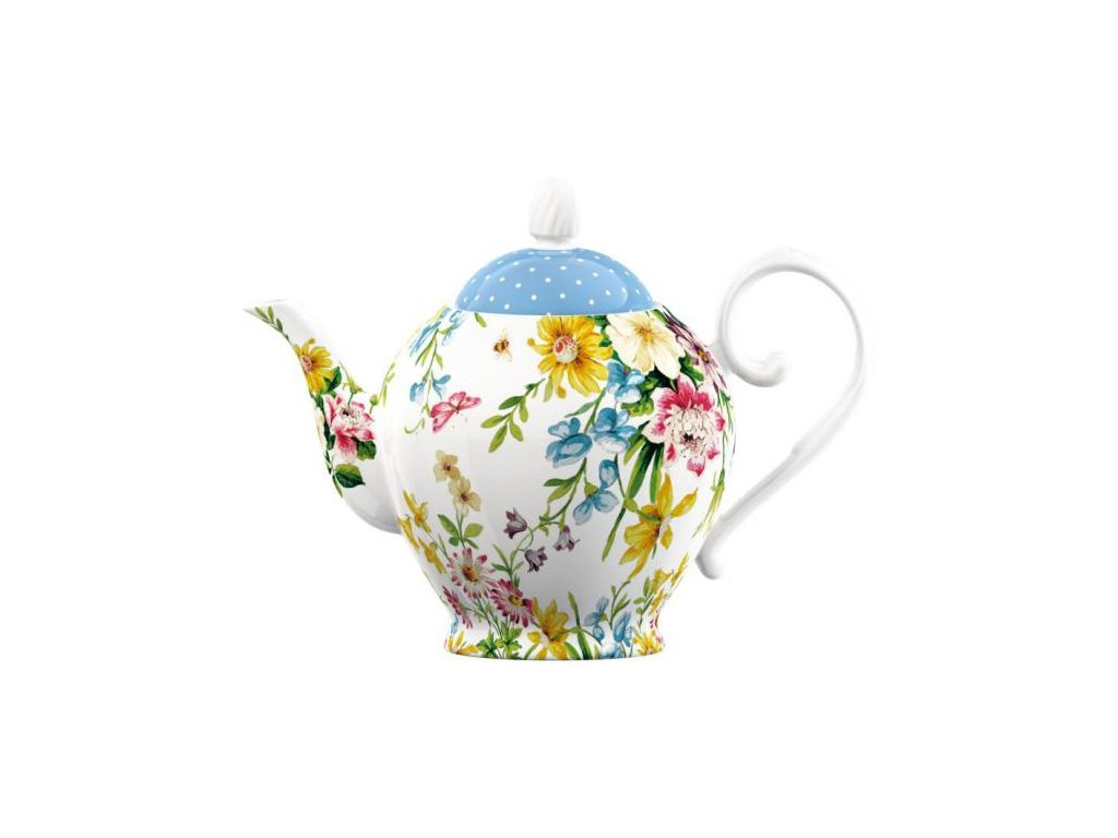 Creative Tops - Porcelánová konvice na čaj English Garden /Objem je 1,25 l/