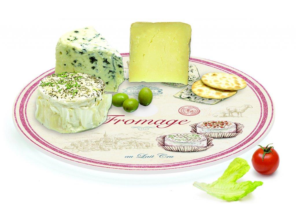 Easy Life - Otočné skleněné prkénko na sýry Fromage /32*32 cm