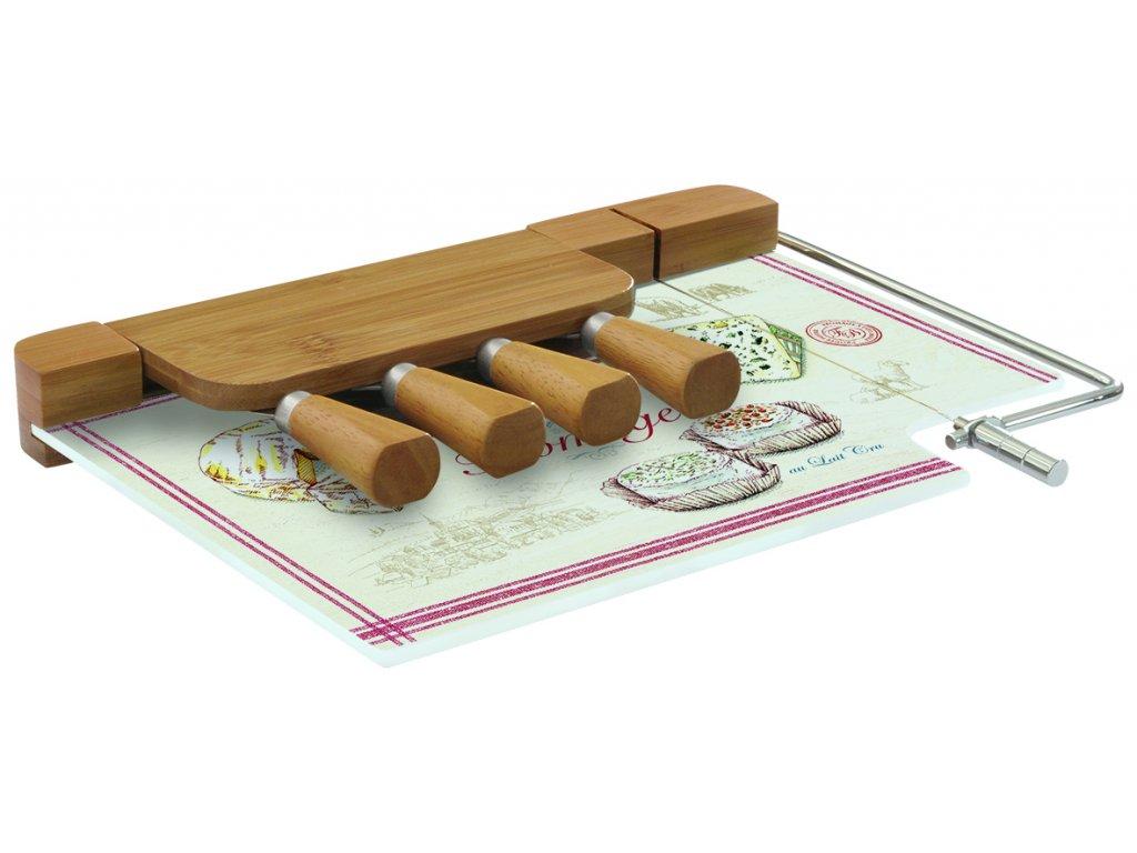 Easy Life - Skleněné prkénko s noži na sýry Fromage /31,5*20 cm/