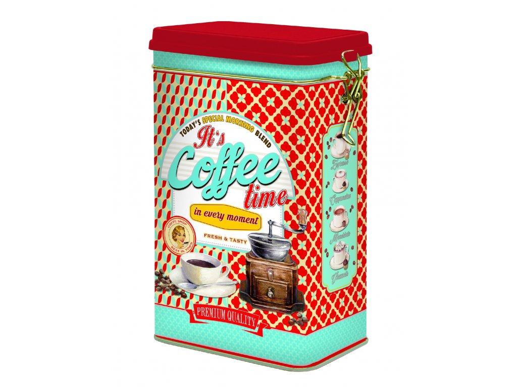 Easy Life - Plechová dóza na kávu Coffee Time /13*8*21 cm/