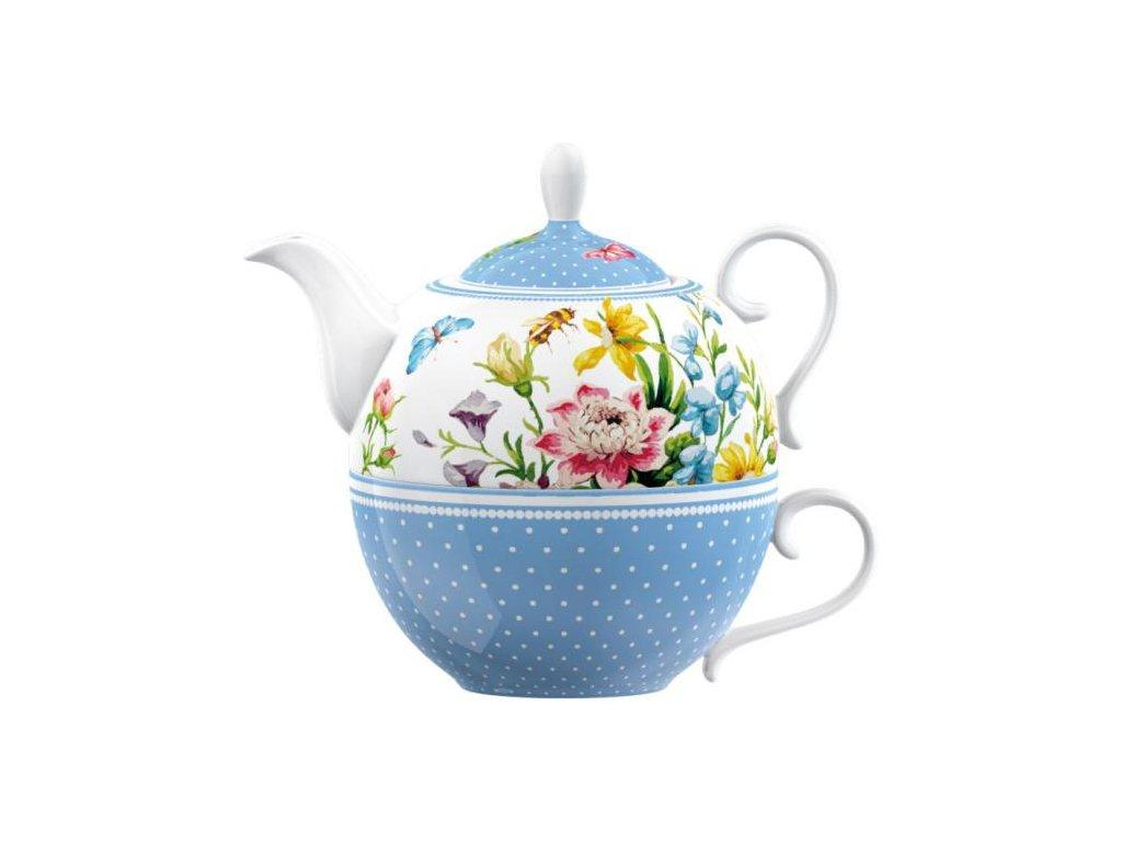 Porcelánový šálek s konvičkou English Garden