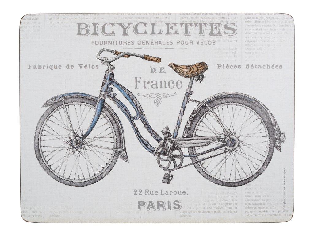 Creative Tops - Korkové prostírání Bicycle malé /29*21 cm/ - 6 ks v balení