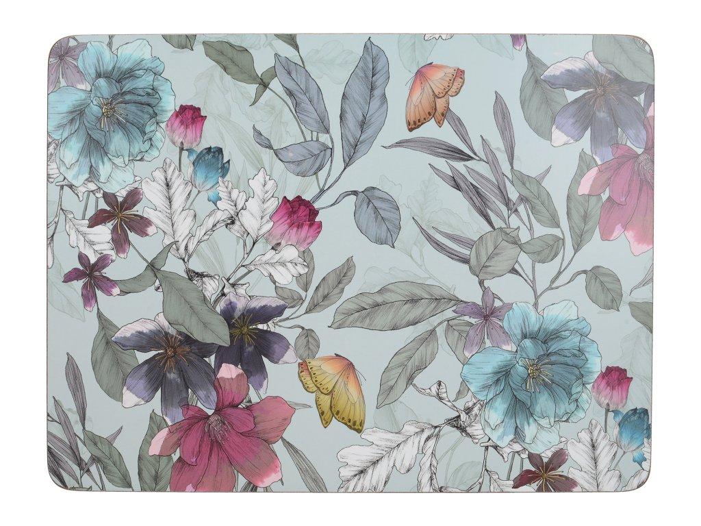 Creative Tops - Korkové prostírání Butterfly Floral malé /29*21 cm/ - 6 ks v balení