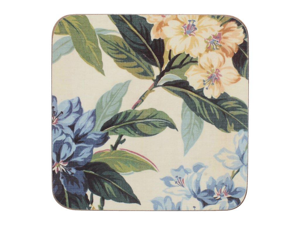 Creative Tops - Korkové podložky pod hrníčky Traditional Floral /10*10 cm/ - 6 ks v balení
