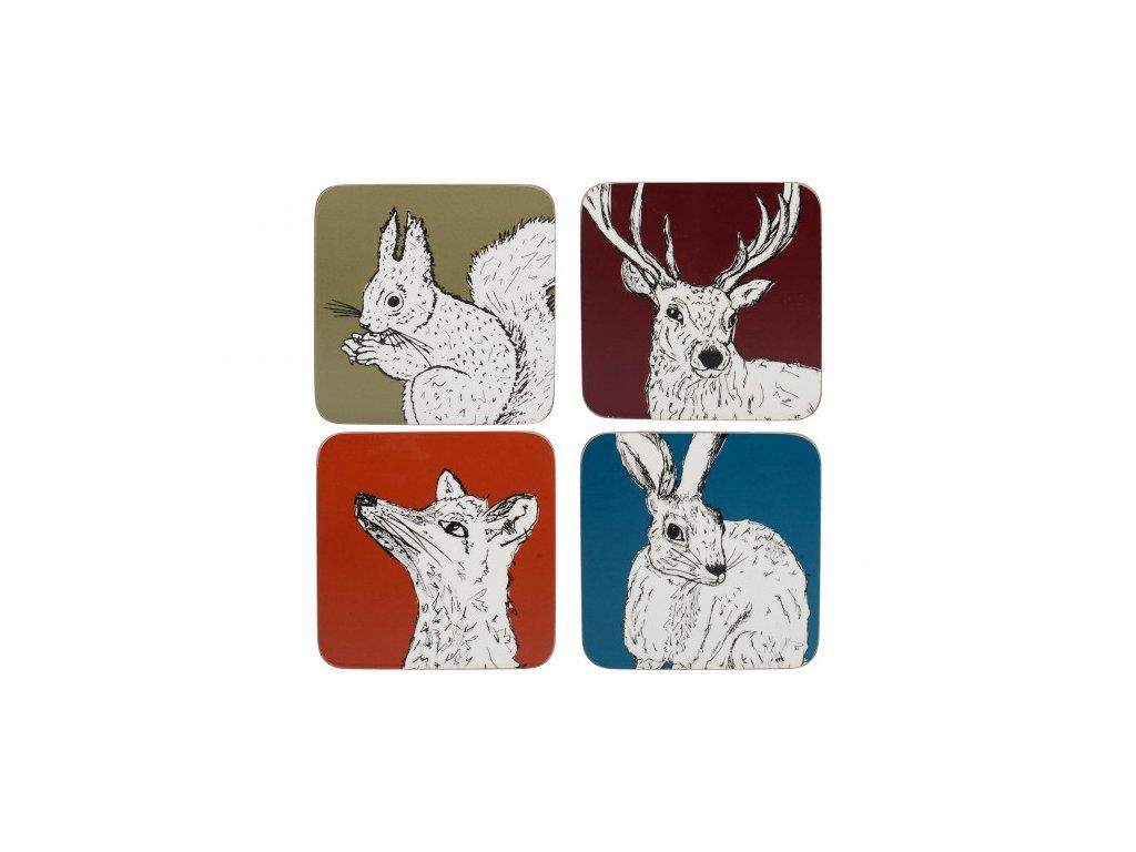 Creative Tops - Korkové podložky pod hrníčky Into The Wild /10,5*10,5 cm/ - 4 ks v balení