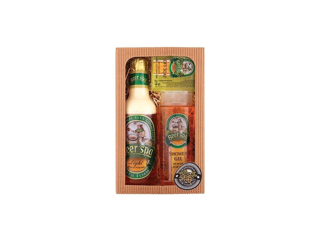 Bohemia Gifts Beer Spa pivní kosmetická sada – gel 250 ml, pěna 500 ml a mýdlo 70 g