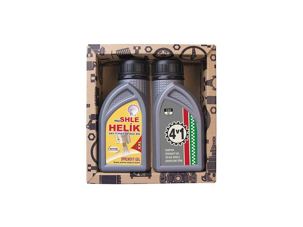 Bohemia Gifts Kosmetická sada pro muže - gel 250 ml a gel 250 ml - olej