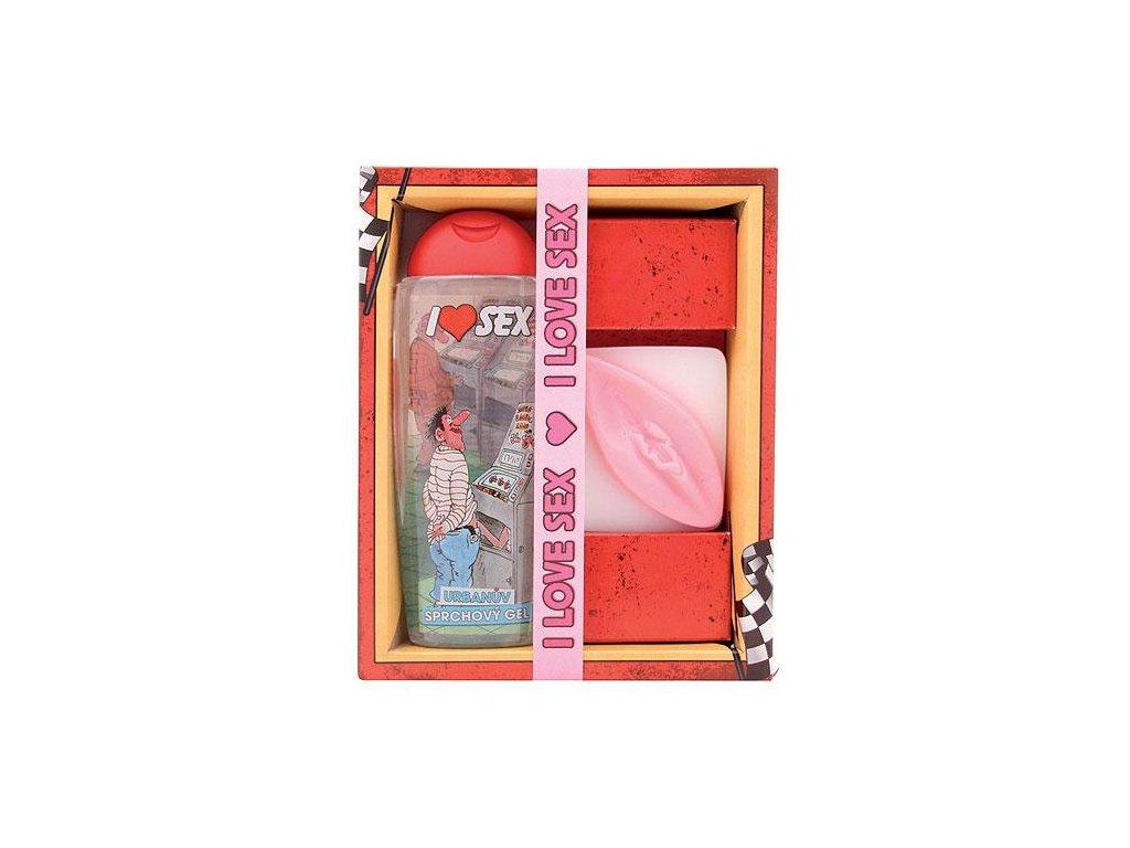 Bohemia Gifts Sexy kosmetická sada - sprchový gel 300 ml a mýdlo vagína 110 g