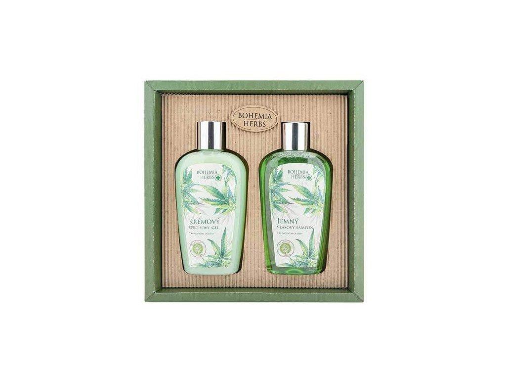 Bohemia Herbs Kosmetická sada - gel 250ml a šampon 250ml – konopí