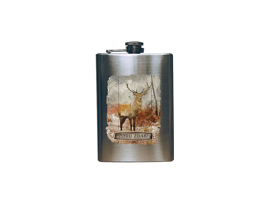 Bohemia Gifts Placatka na alkohol pro myslivce 200 ml - Lovu zdar