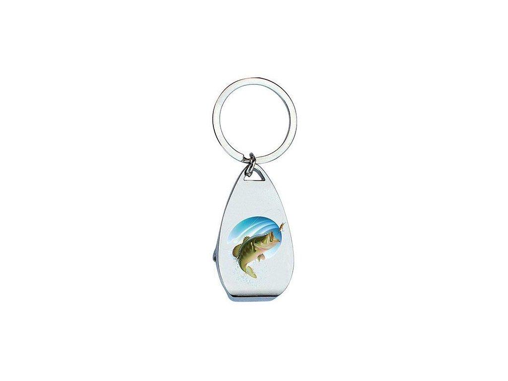 Bohemia Gifts Klíčenka s otvírákem pro rybáře - ryba