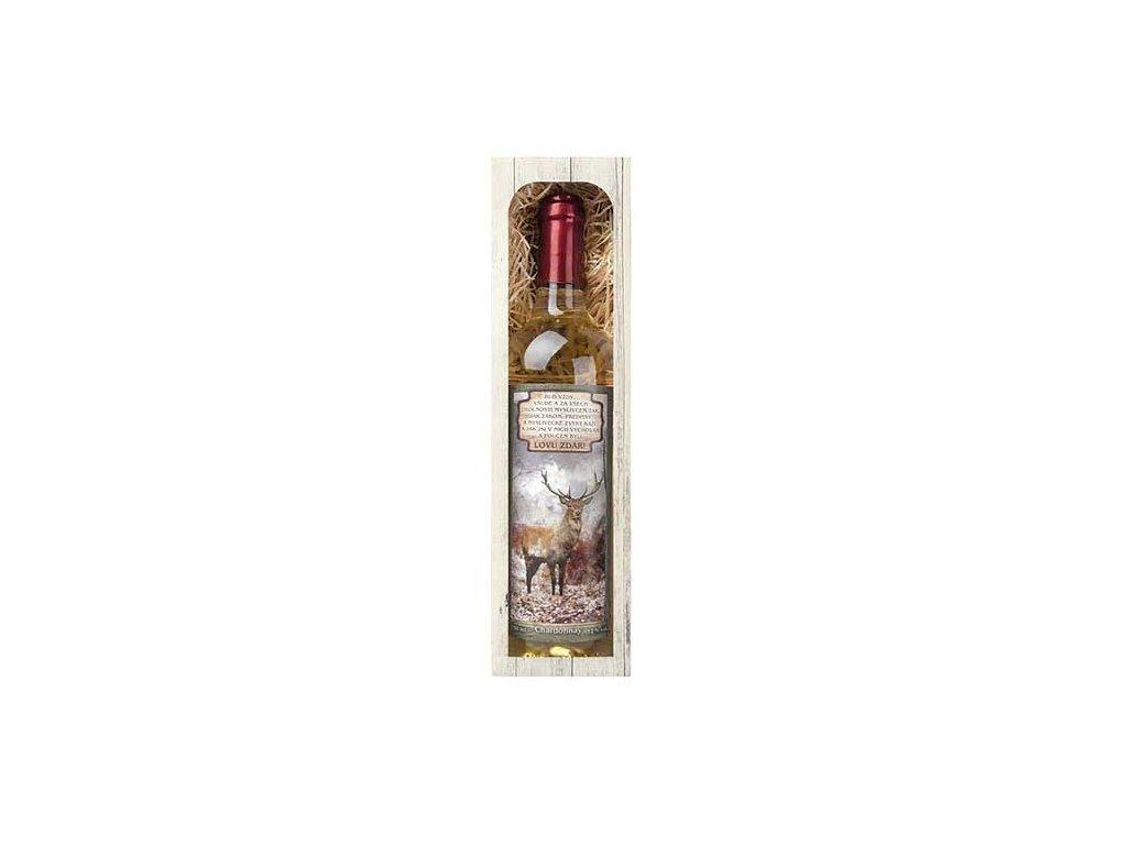 Bohemia Gifts Dárkové bílé víno 0,75 l pro myslivce