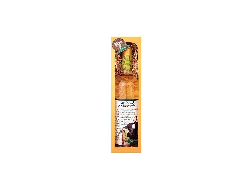 Bohemia Gifts Dárkové bílé víno 0,75 l Chardonnay - Společník pro hezký večer