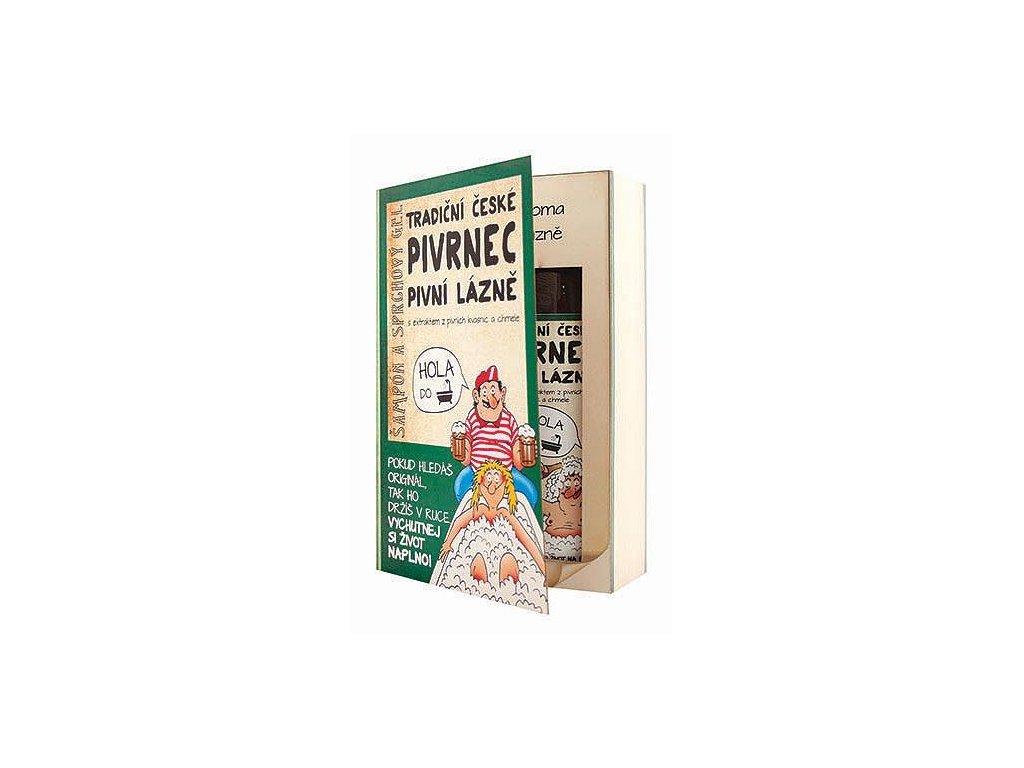 Bohemia Gifts Kosmetická sada kniha Pivrnec – gel 200 ml a šampon 200 ml