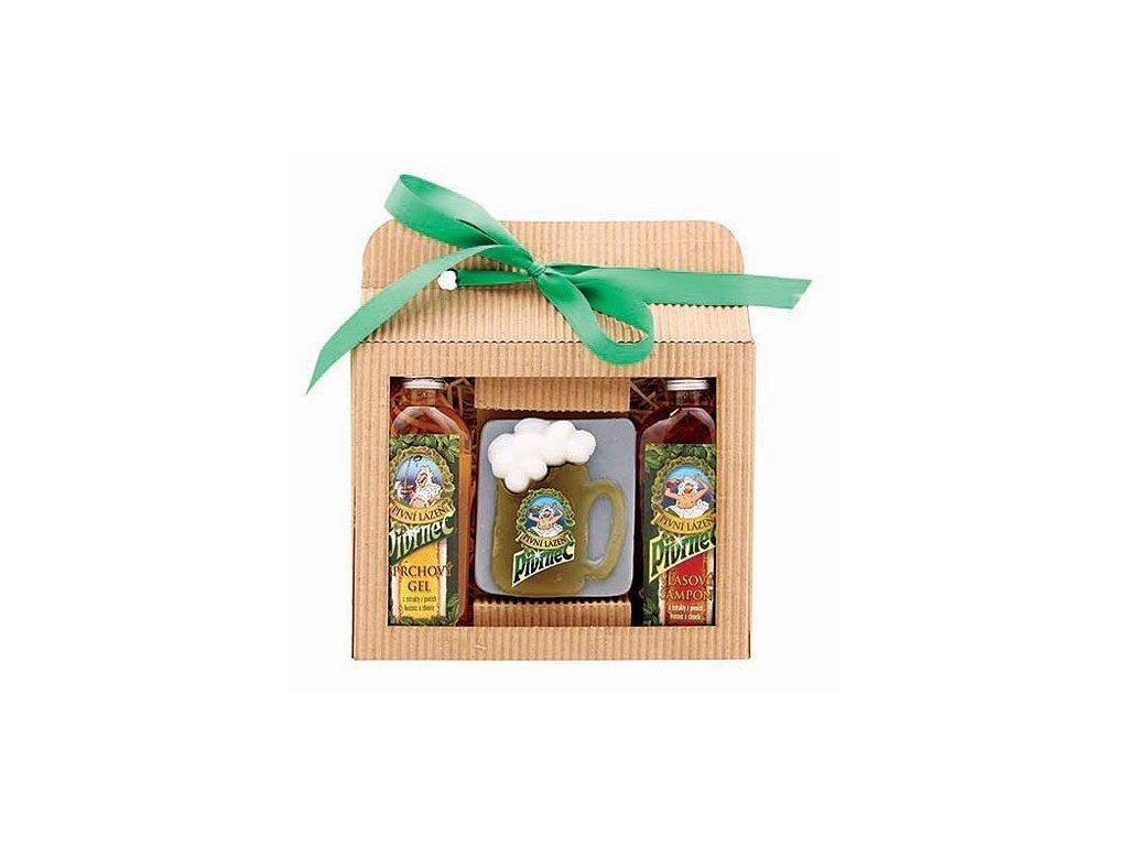 Bohemia Gifts Sada Pivrnec – gel 100ml, mýdlo 85g a šampon 100ml
