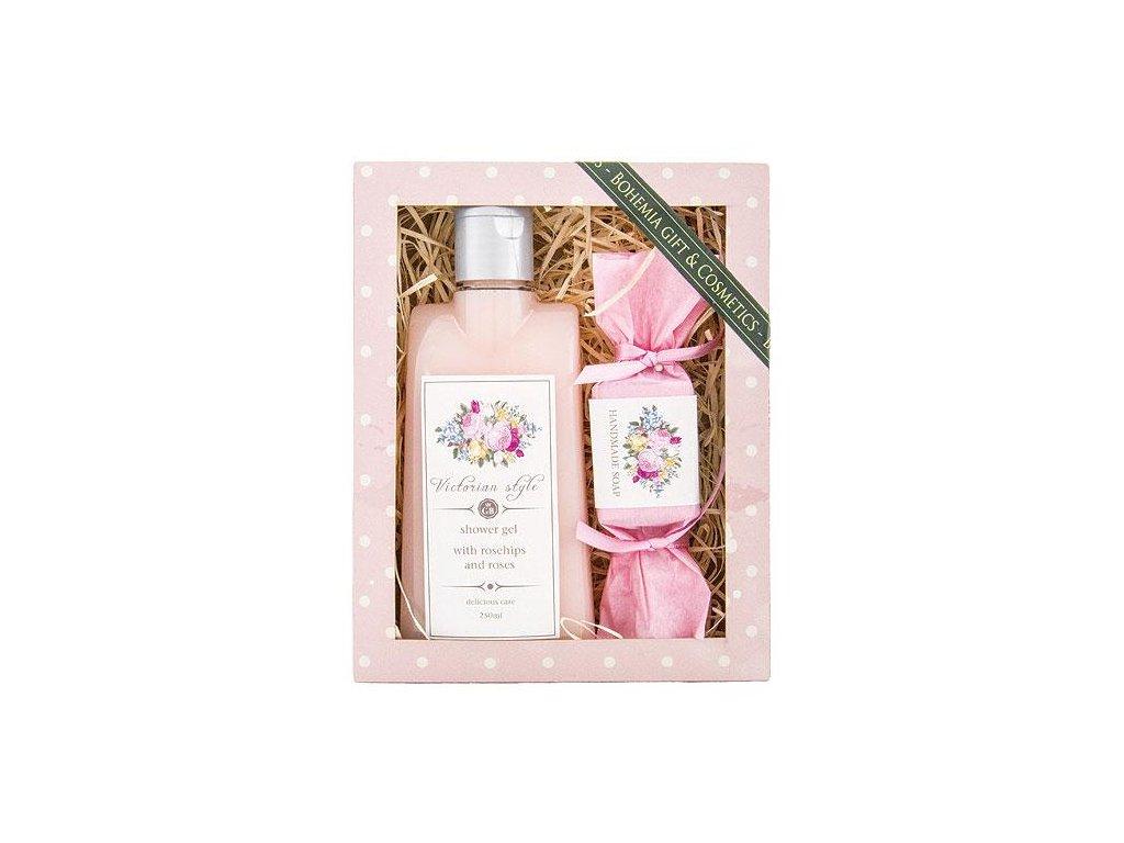Bohemia Gifts Kosmetická sada Victorian Style – gel 200 ml a mýdlo 30 g