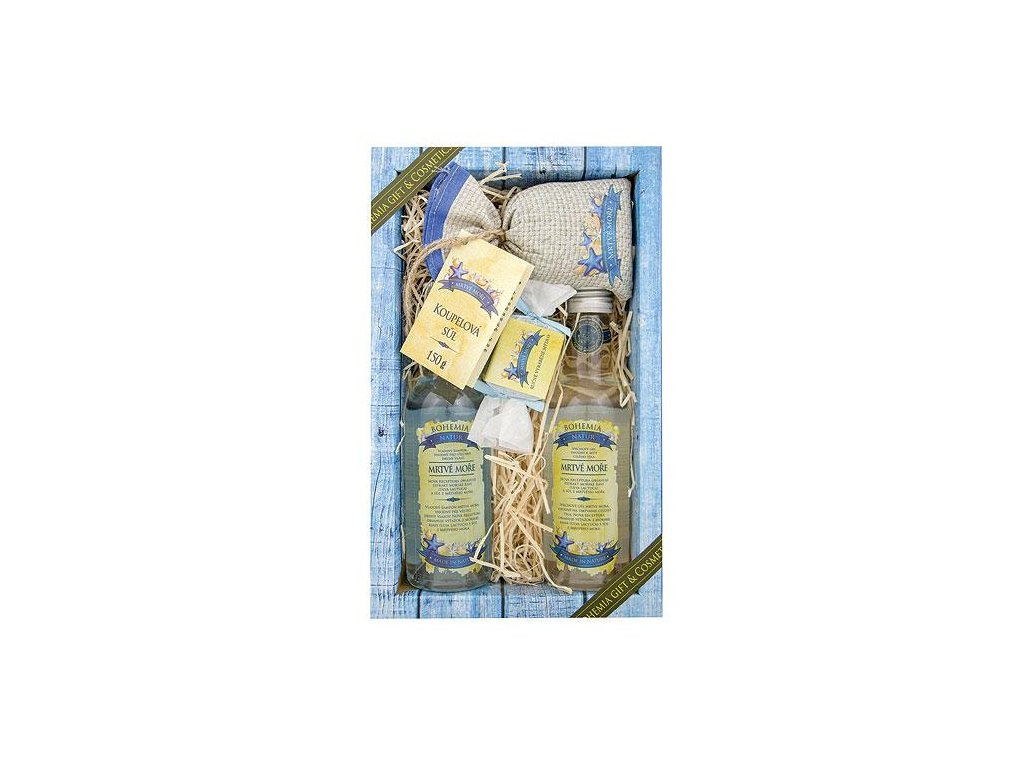 BN - Dárková sada prémiové kosmetiky Mrtvé moře /sprchový gel 200 ml, šampon 200 ml, mýdlo 30 g a koupelová sůl 150 g/