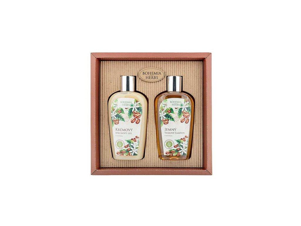Bohemia Herbs Kosmetická sada kofein - sprchový gel 250ml a šampon 250ml