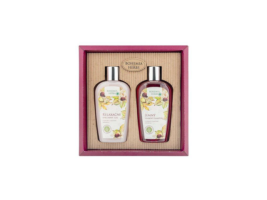 Bohemia Herbs Kosmetická sada - gel 250ml a šampon 250ml – koňský kaštan