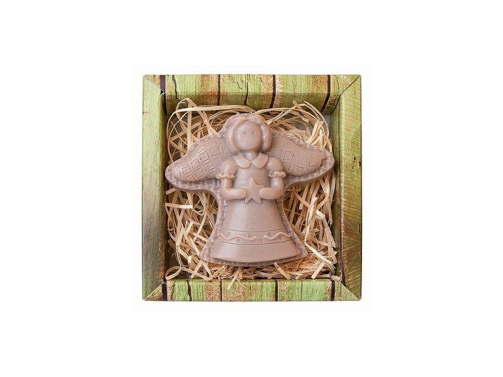 Bohemia Gifts Ručně vyráběné tvarované mýdlo 80 g - anděl postava