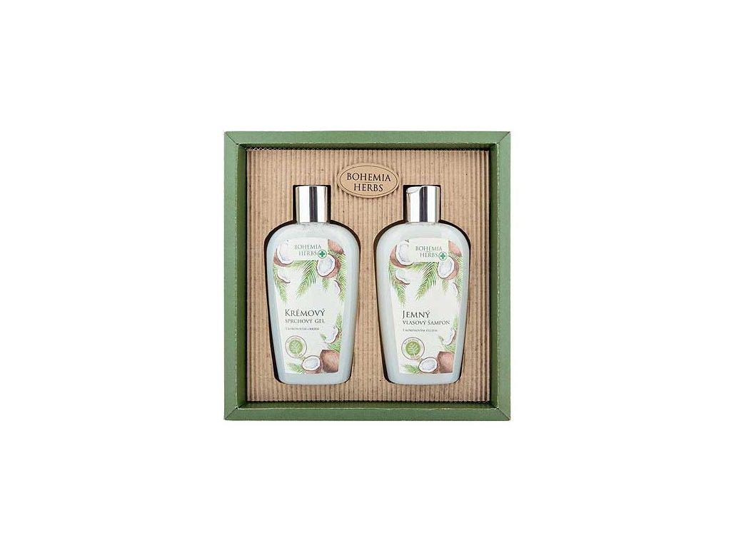Bohemia Herbs Kosmetická sada - gel 250ml a šampon 250ml - kokos