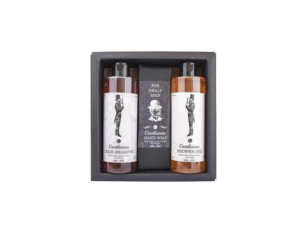 Bohemia Gifts Kosmetická sada Gentleman – gel 250ml, mýdlo 145g a šampon 250ml