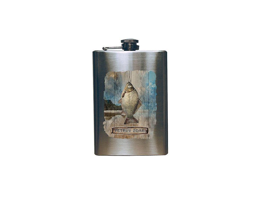 Bohemia Gifts Placatka na alkohol 200 ml pro rybáře - Petrův zdar