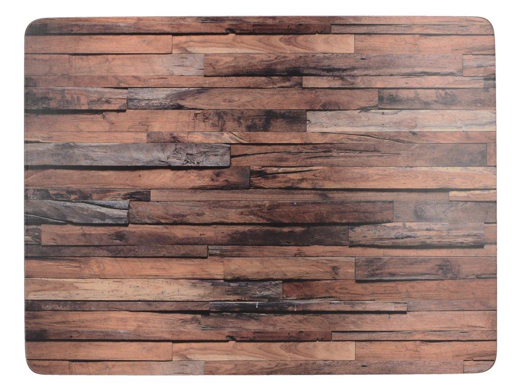 Creative Tops - Korkové prostírání Wood Cabin malé /29*21 cm/ - 6 ks v balení