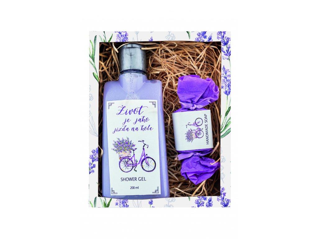 Dárkové balení - Život je jako jízda na kole /sprchový gel 200 ml, mýdlo 30g/