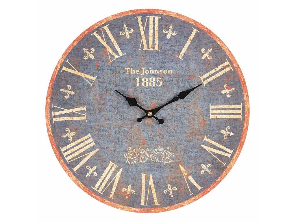 Clayre & Eef - Nástěnné hodiny JOHNSON 1885 - Ø 34*3 cm / 1*AA