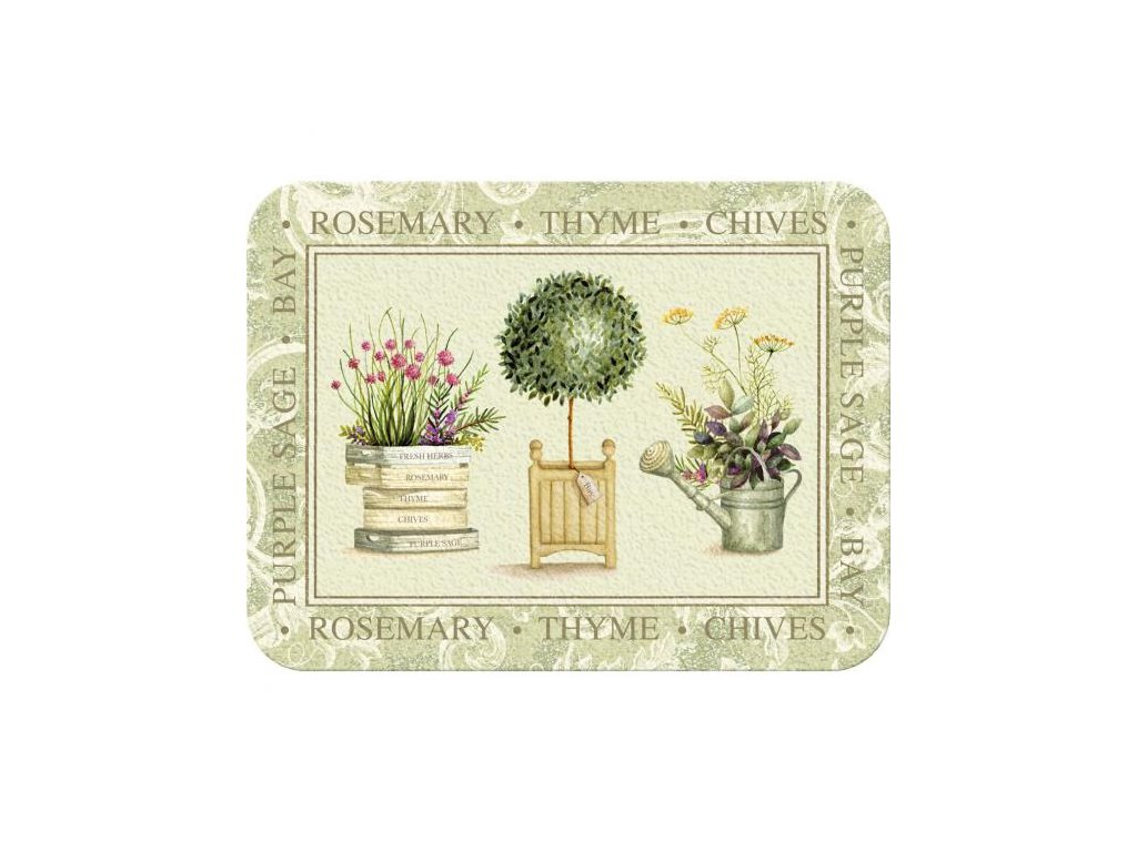 Skleněné krájecí prkénko Topiary